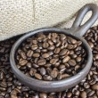 Stock Photo: Coffee Beans in Clay Pot II