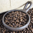 Stock Photo: Coffee Beans in Clay Pot V