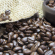 Stock Photo: Coffee Beans Closeup