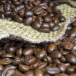 Stock Photo: Coffee Beans inside his jute bag II