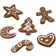 Stock Vector: Gingerbread