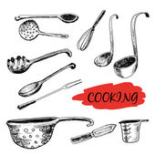 Kitchen utensils — Vetorial Stock