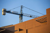 Construction site with crane. — Stock Photo