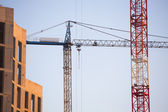 Construction site with cranes. — Stock Photo