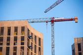 строительной площадки с кранами. — Стоковое фото
