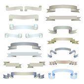 Big set of ribbons — Stock Vector