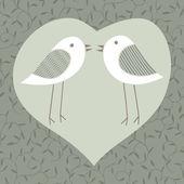 Couple of lovers birds — Stock Vector