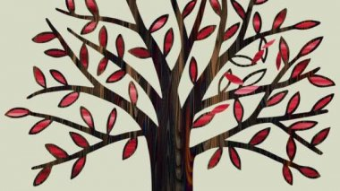 Leaf fall — Stock Video