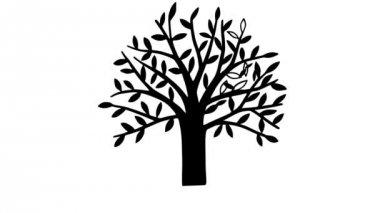 Autumn tree — Stock Video