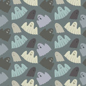 Seamless pattern of ghosts — Stock Vector