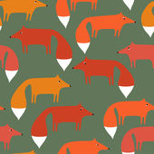 Pattern of foxes — Stock Vector