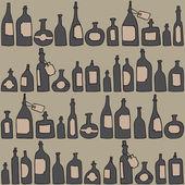 Seamless pattern with bottles — Vetor de Stock