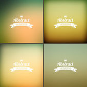 Set of soft colored abstract background — Vettoriale Stock