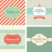 Collection of invitations card, vintage labels. vector illustration. — Stock Vector