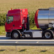 Truck on highway — Stock Photo