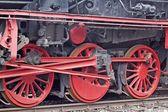 Buharlı lokomotif ayrıntıları — Stok fotoğraf