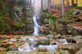 Waterfall Podgornej in the Giant Mountains, Poland — Foto Stock