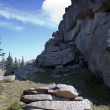 Stock Photo: Group of rocks in Karkonosze