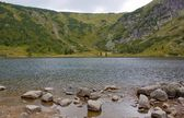 Glacial lake in Karkonosze mountains, Poland — Stock Photo
