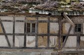 Ruined timbered house — Stock Photo