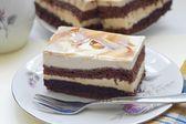 вкусный шоколад и торт капучино — Стоковое фото