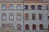 Facade with windows — Foto Stock