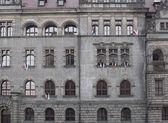 Facade with windows — Stok fotoğraf
