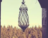 Glass old lamp — Stock Photo