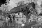 Abandoned Timbered House — Stockfoto