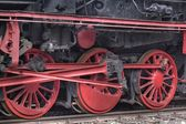 The details of steam locomotive  — 图库照片