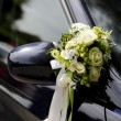 Floral decoration on the car — Stock Photo