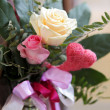 Stock Photo: Church decoration roses