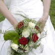 Stock Photo: Bridal bouquet of roses