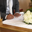 Signature of Groom — Stock Photo