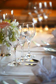 Wine glasses at the table — Stock Photo