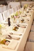 結婚式のテーブル — ストック写真