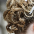 Bridal hair style — Stock Photo