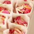 Stock Photo: Rose petals bag