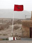 Moroccon flag — Stock Photo