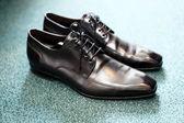 Black men shoes — Stock Photo