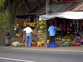 Fruit stand at the roadside — Stock Photo