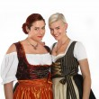 Two bavarian girls in traditional costumes — Stock Photo #46597927