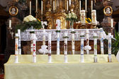 Holy candles at the communion — Stock Photo