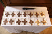 Holy crosses at the communion — Foto Stock