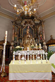 Holy candles at the communion — Stockfoto