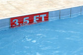 3,5 ft sign at a swimming pool — Stock Photo