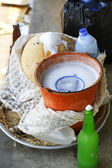 Fixtures for palm wine — Stock Photo