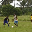 African soccer team during training — Стоковое фото