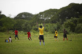 African soccer team during training — Stock Photo