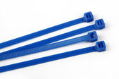 Cable ties in blue — Stock Photo
